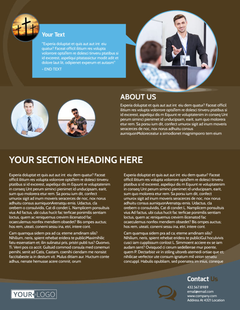 Christian Events & Conferences Flyer Template Preview 3