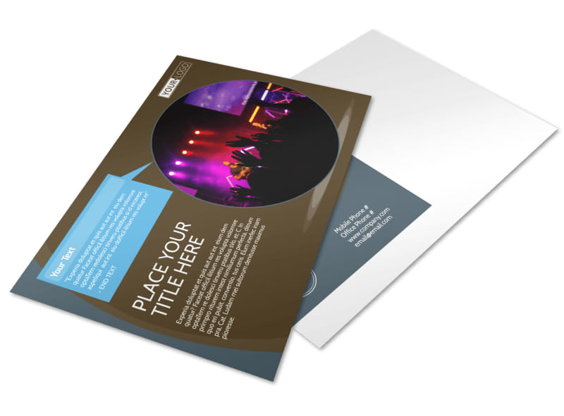Christian Events & Conferences Postcard Template