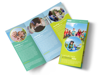 Spirit Led Bible Camp Tri-Fold Brochure Template preview