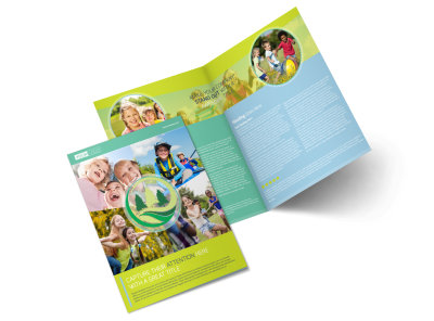 Spirit Led Bible Camp Bi-Fold Brochure Template preview