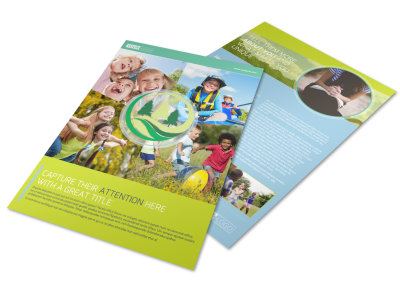 Spirit Led Bible Camp Flyer Template preview