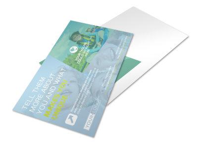 Spirit Led Bible Camp Postcard Template preview