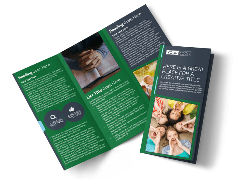 Church Fellowship Tri-Fold Brochure Template