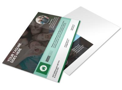 Church Fellowship Postcard Template preview