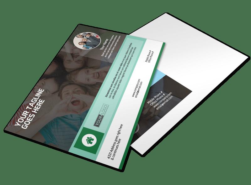 Church Fellowship Postcard Template Preview 1