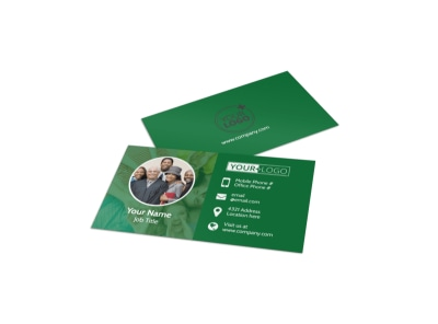 Church Fellowship Business Card Template preview