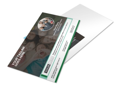 Church Fellowship Postcard Template