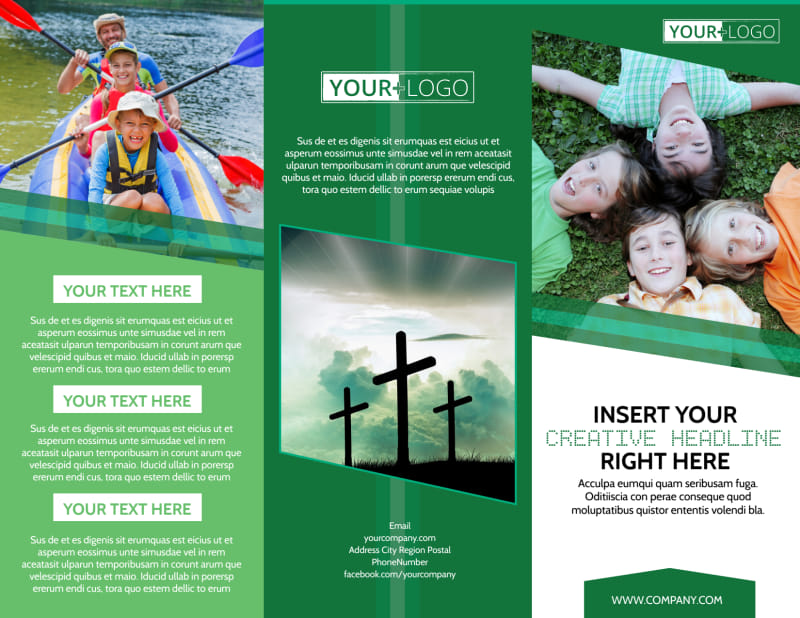 Inspiration Bible Camp Brochure Template Preview 2