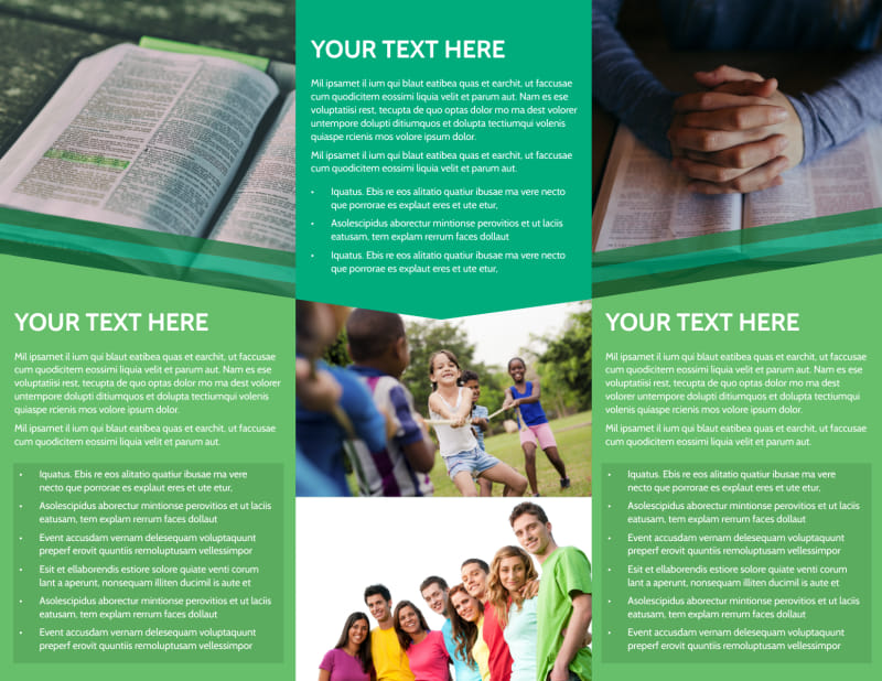 Inspiration Bible Camp Brochure Template Preview 3