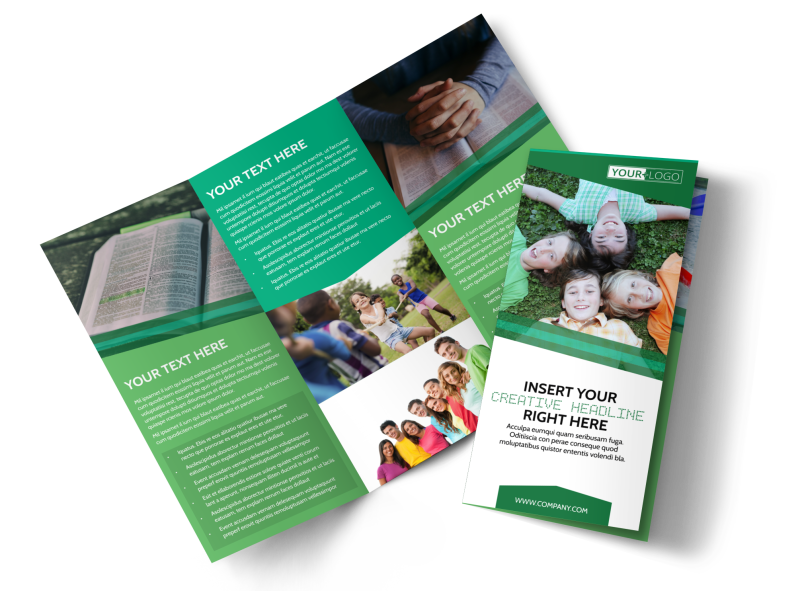 Inspiration Bible Camp Brochure Template Preview 1