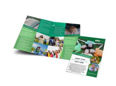 Inspiration Bible Camp Bi-Fold Brochure Template