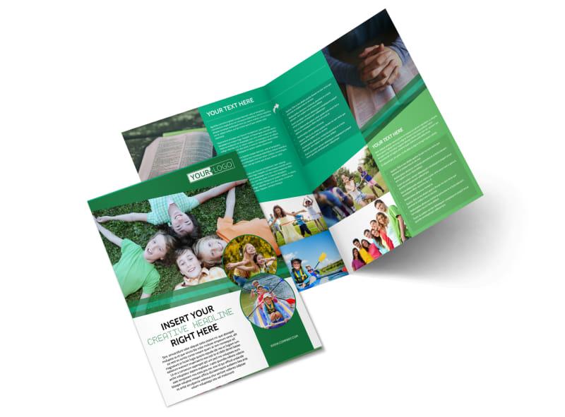 Inspiration Bible Camp Bi-Fold Brochure Template