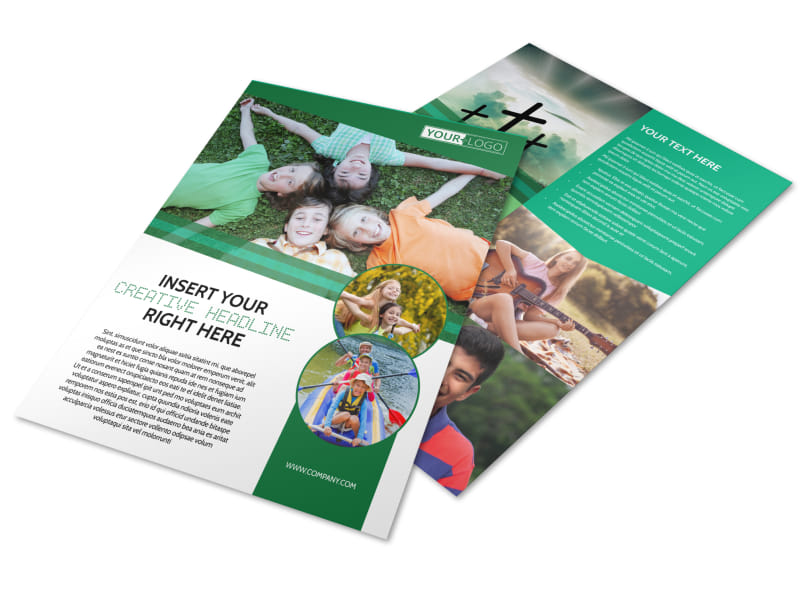 Inspiration Bible Camp Flyer Template Preview 4