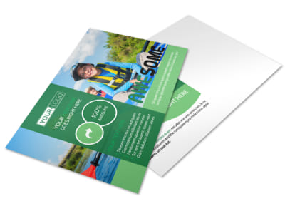 Inspiration Bible Camp Postcard Template preview