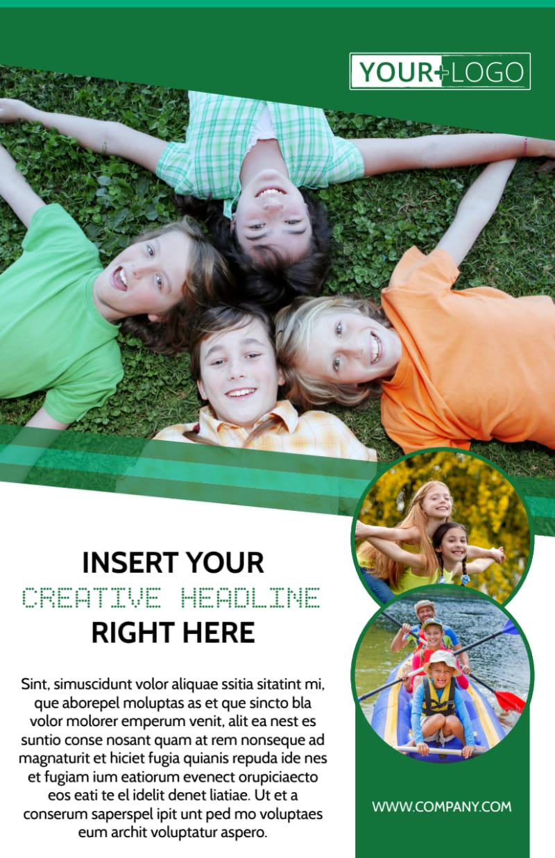 Inspiration Bible Camp Flyer Template Preview 2