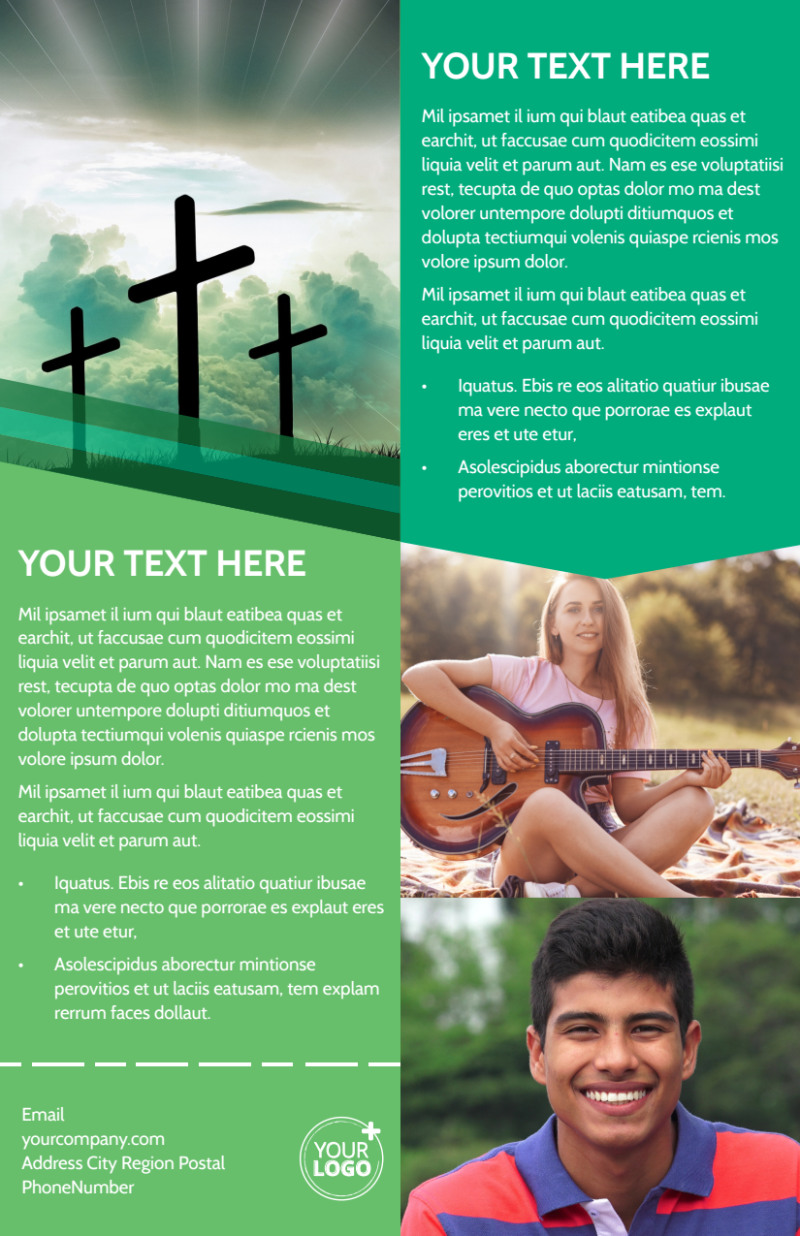 Inspiration Bible Camp Flyer Template Preview 3