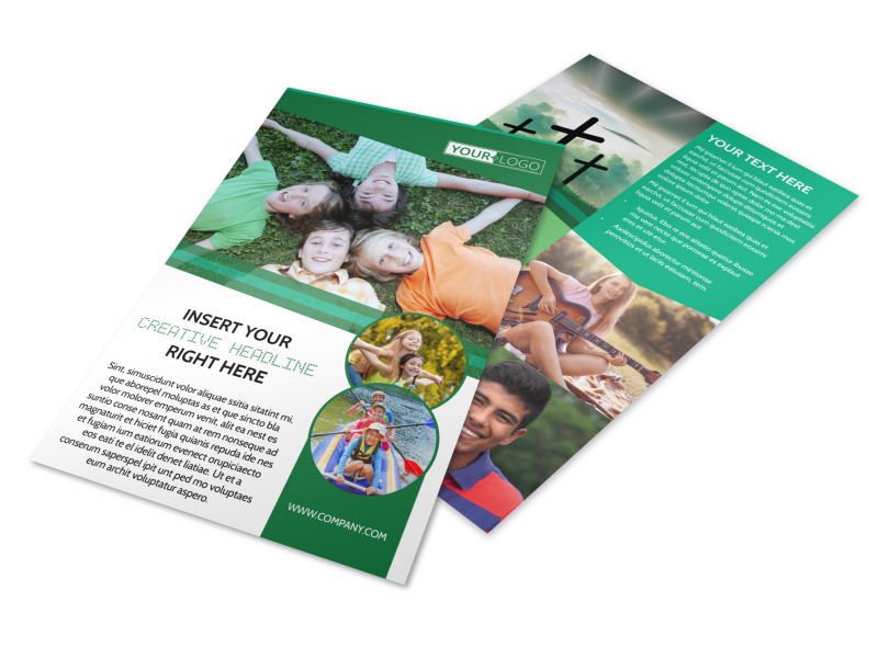 Inspiration Bible Camp Flyer Template Preview 1