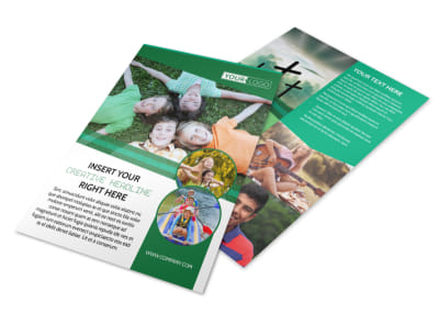 Inspiration Bible Camp Flyer Template preview