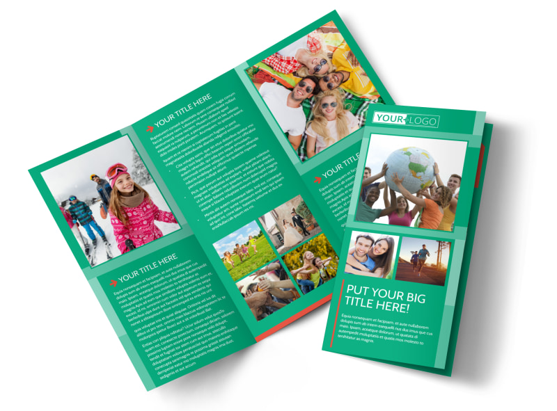 Fun Church Event Tri-Fold Brochure Template
