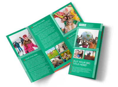 Fun Church Event Tri-Fold Brochure Template preview