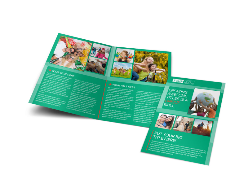 Fun Church Event Bi-Fold Brochure Template