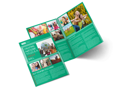 Fun Church Event Bi-Fold Brochure Template preview