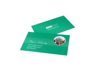Fun Church Event Business Card Template preview