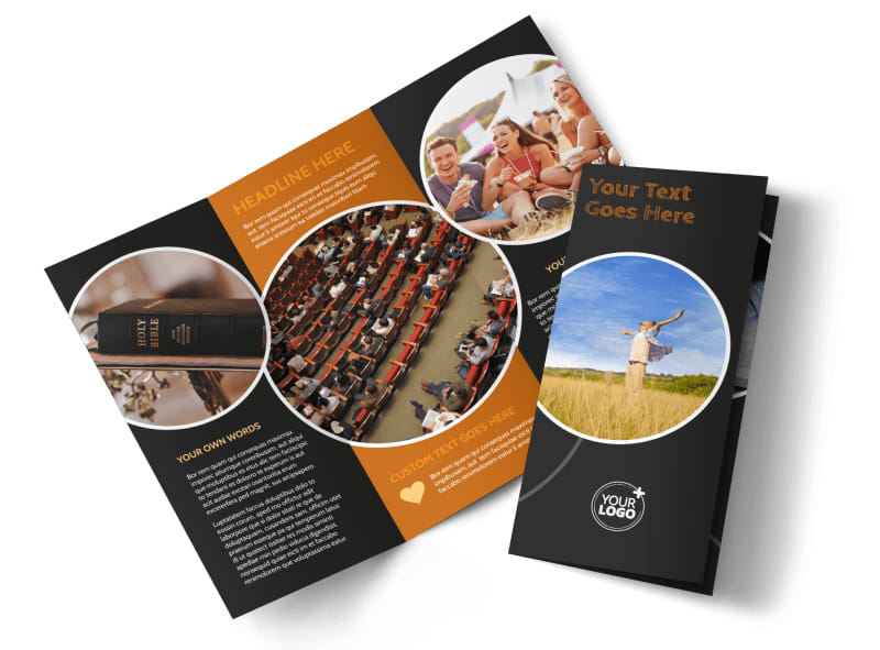 christian conference center brochure template