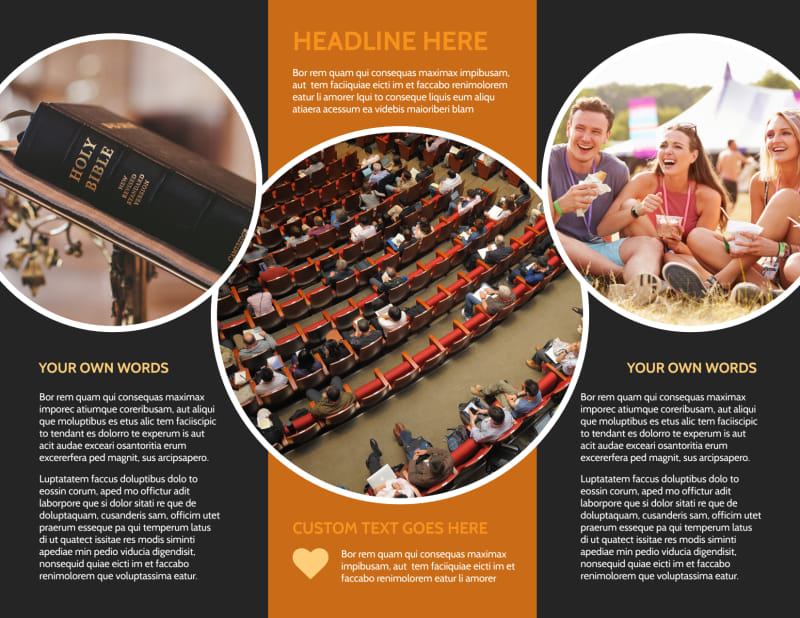 Christian Conference Center Brochure Template Preview 3