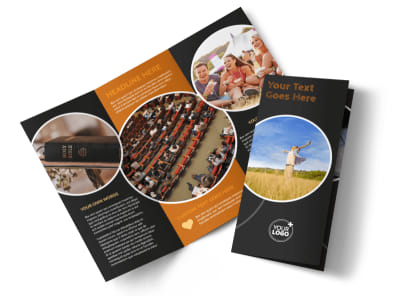 Christian Conference Center Tri-Fold Brochure Template preview