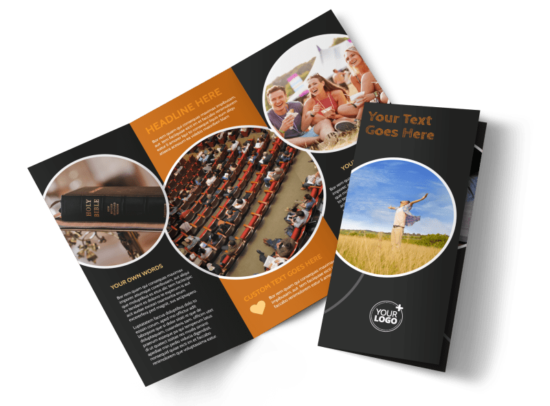 Christian Conference Center Brochure Template Preview 1