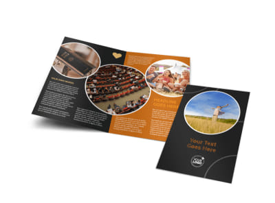 Christian Conference Center Bi-Fold Brochure Template preview