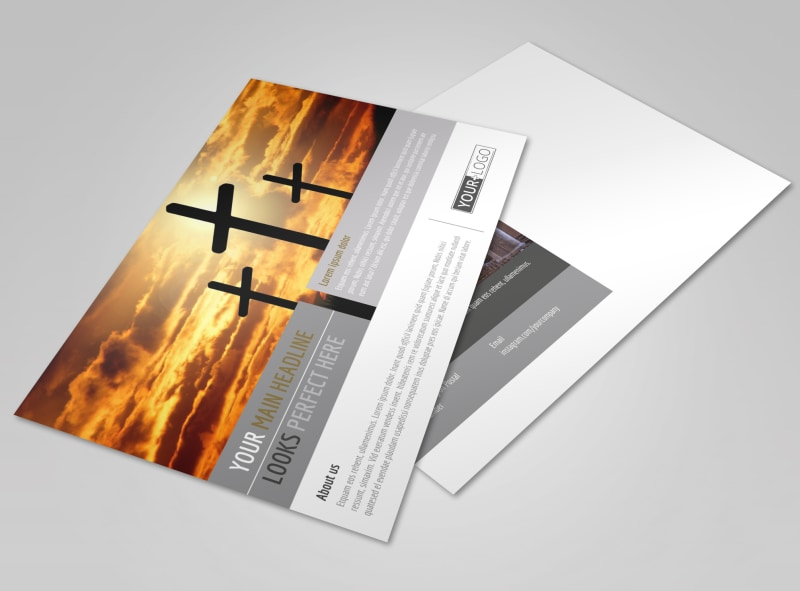 Church Informational Postcard Template