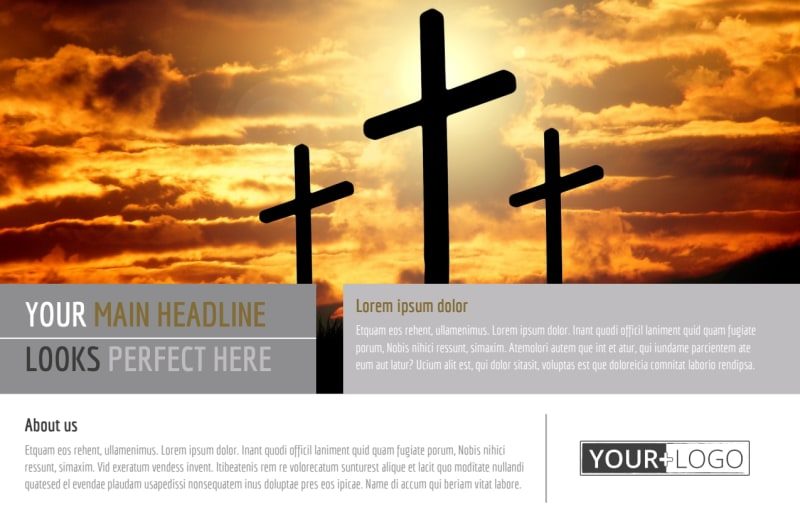 Church Informational Postcard Template Preview 2