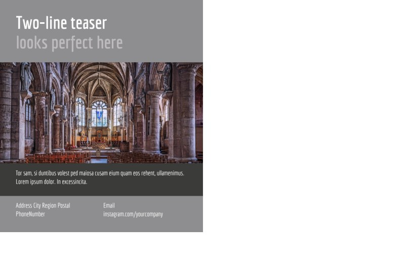 Church Informational Postcard Template Preview 3