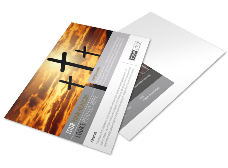 Church Informational Postcard Template Preview 1