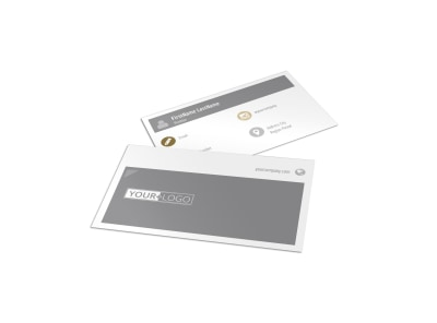 Church Informational Business Card Template preview