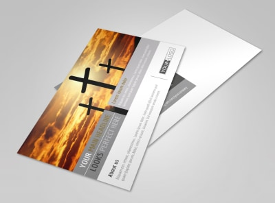Church Informational Postcard Template preview