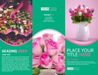 Floral Delivery Service Brochure Template Preview 1