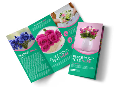 Floral Delivery Service Tri-Fold Brochure Template preview