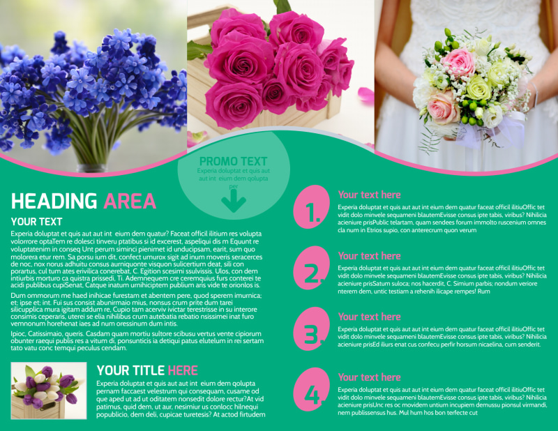 Floral Delivery Service Brochure Template Preview 3