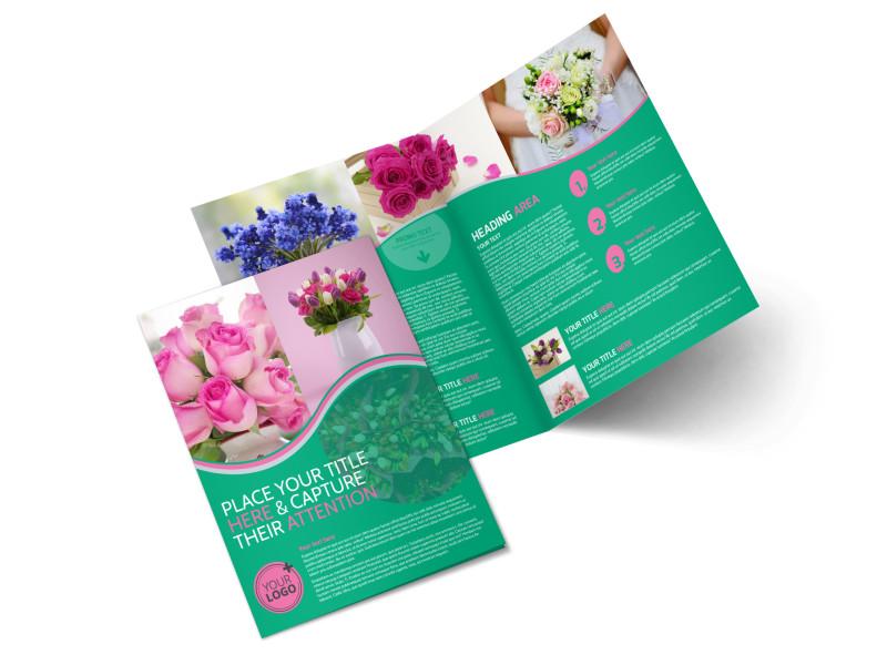 Floral Delivery Service Bi-Fold Brochure Template