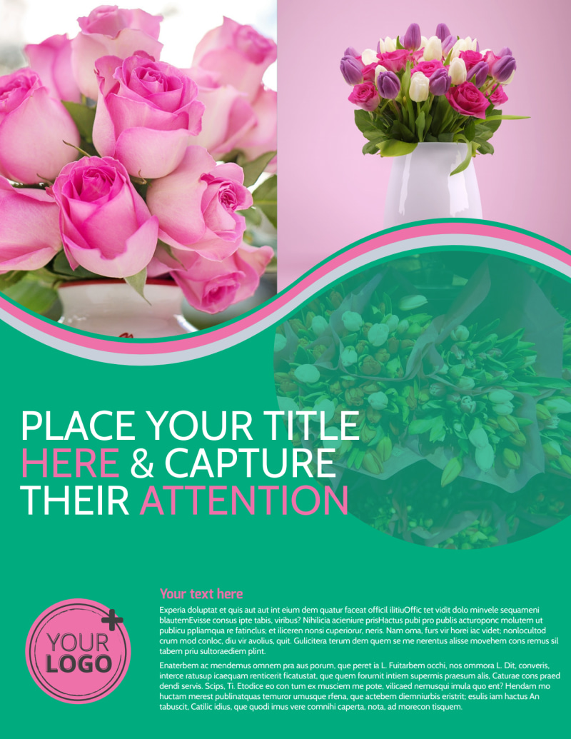 Floral Delivery Service Flyer Template Preview 2