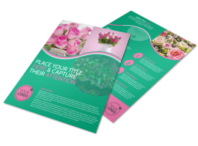 Floral Delivery Service Flyer Template preview