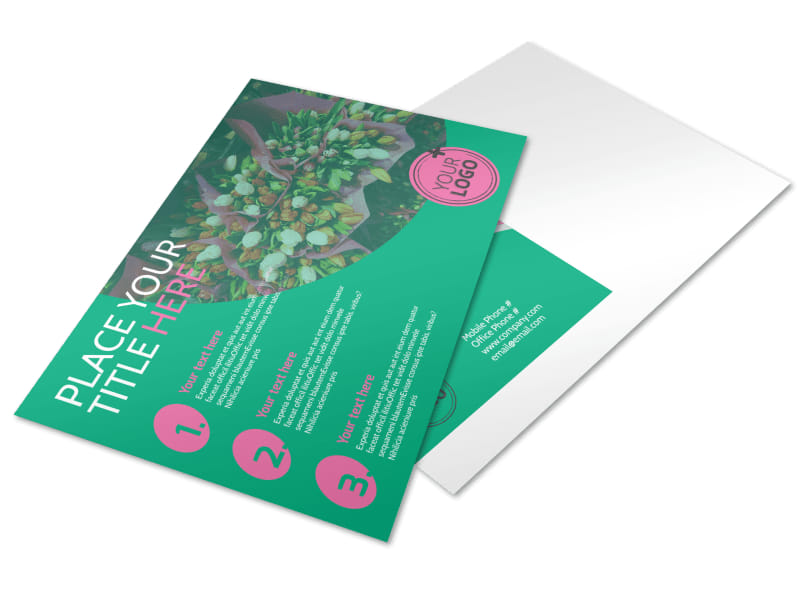 Floral Delivery Service Postcard Template Preview 4