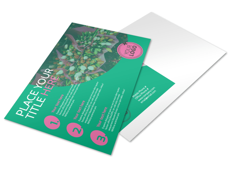 Floral Delivery Service Postcard Template Preview 1