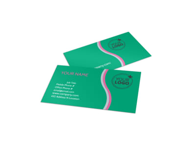 Floral Delivery Service Business Card Template preview
