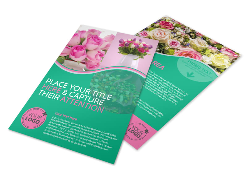 Floral Delivery Service Flyer Template