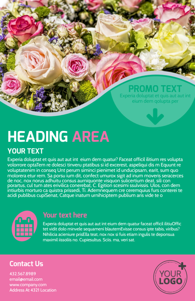 Floral Delivery Service Flyer Template Preview 3
