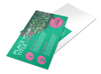 Floral Delivery Service Postcard Template preview